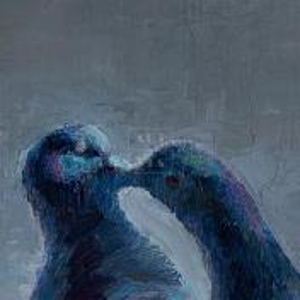 Фрагмент картины 2/3. Поцелуй залетного