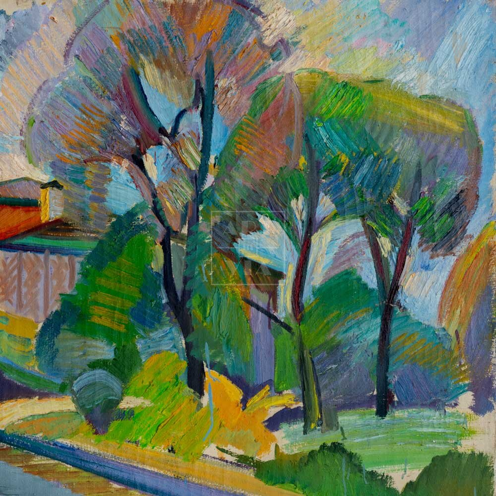 Фрагмент картины 1/3. Пейзаж. Коробейников переулок