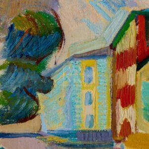 Фрагмент картины 2/3. Пейзаж. Коробейников переулок