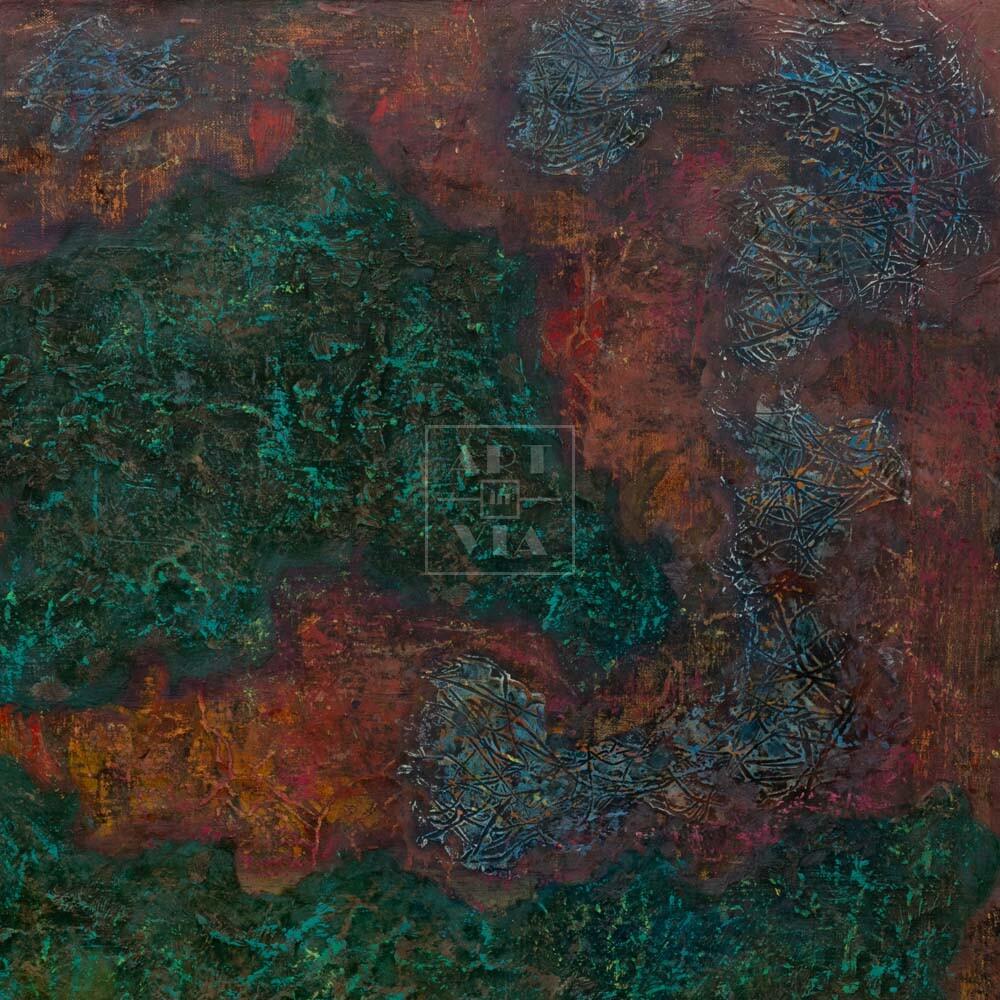 Фрагмент картины 1/3. Интерьер. Стена