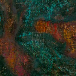 Фрагмент картины 2/3. Интерьер. Стена