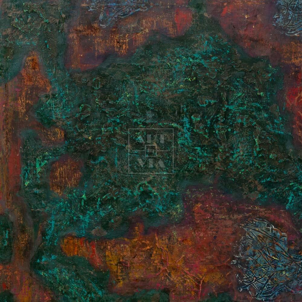 Фрагмент картины 3/3. Интерьер. Стена