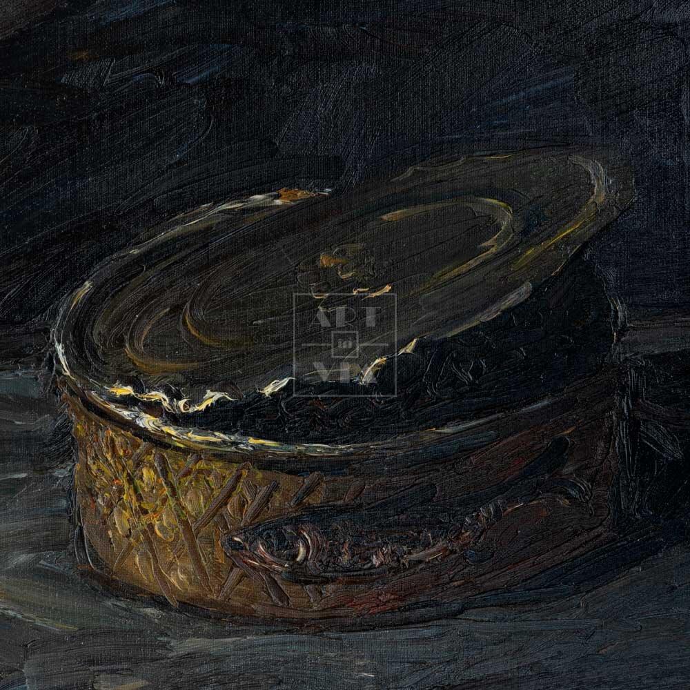Фрагмент картины 1/3. Натюрморт. Банка