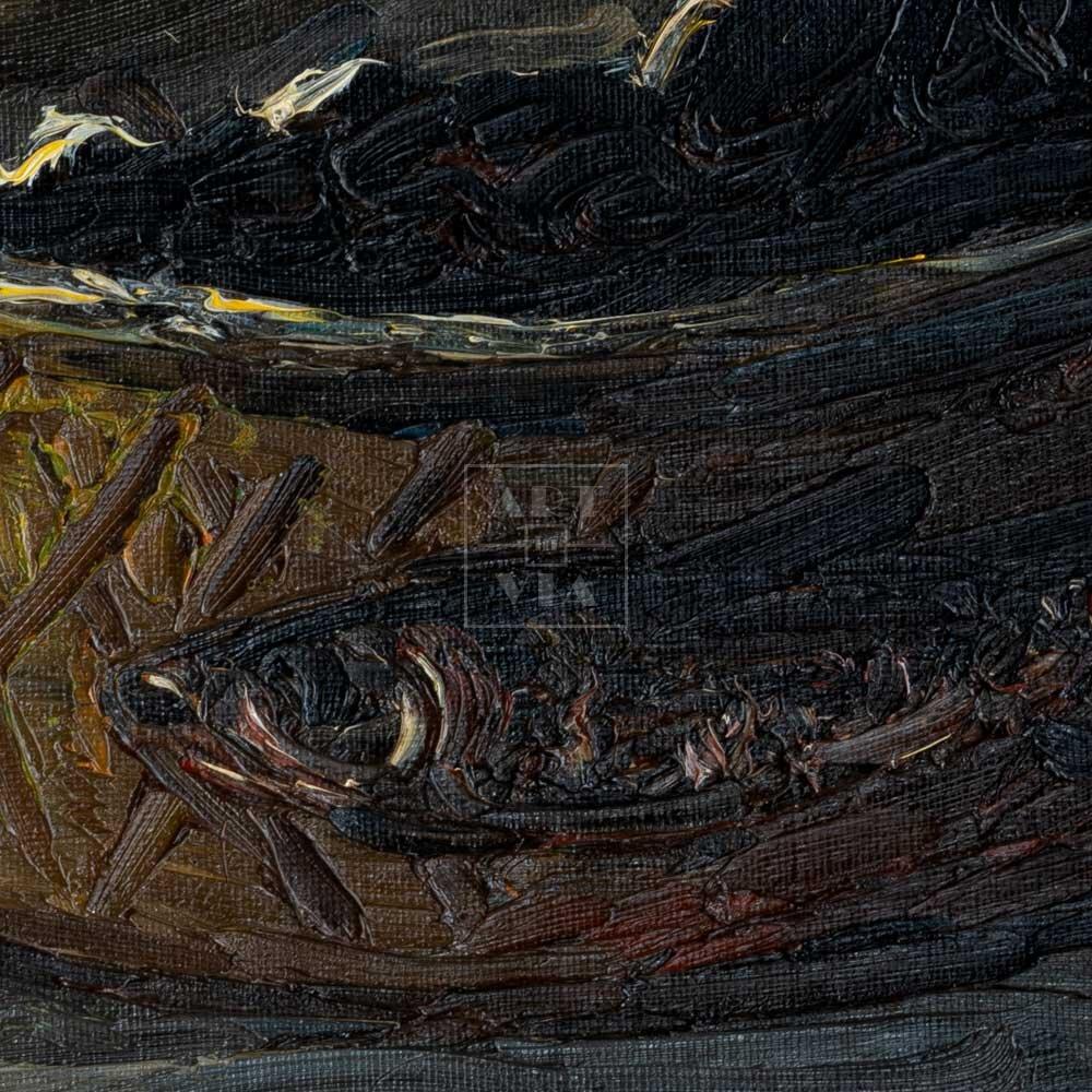 Фрагмент картины 2/3. Натюрморт. Банка