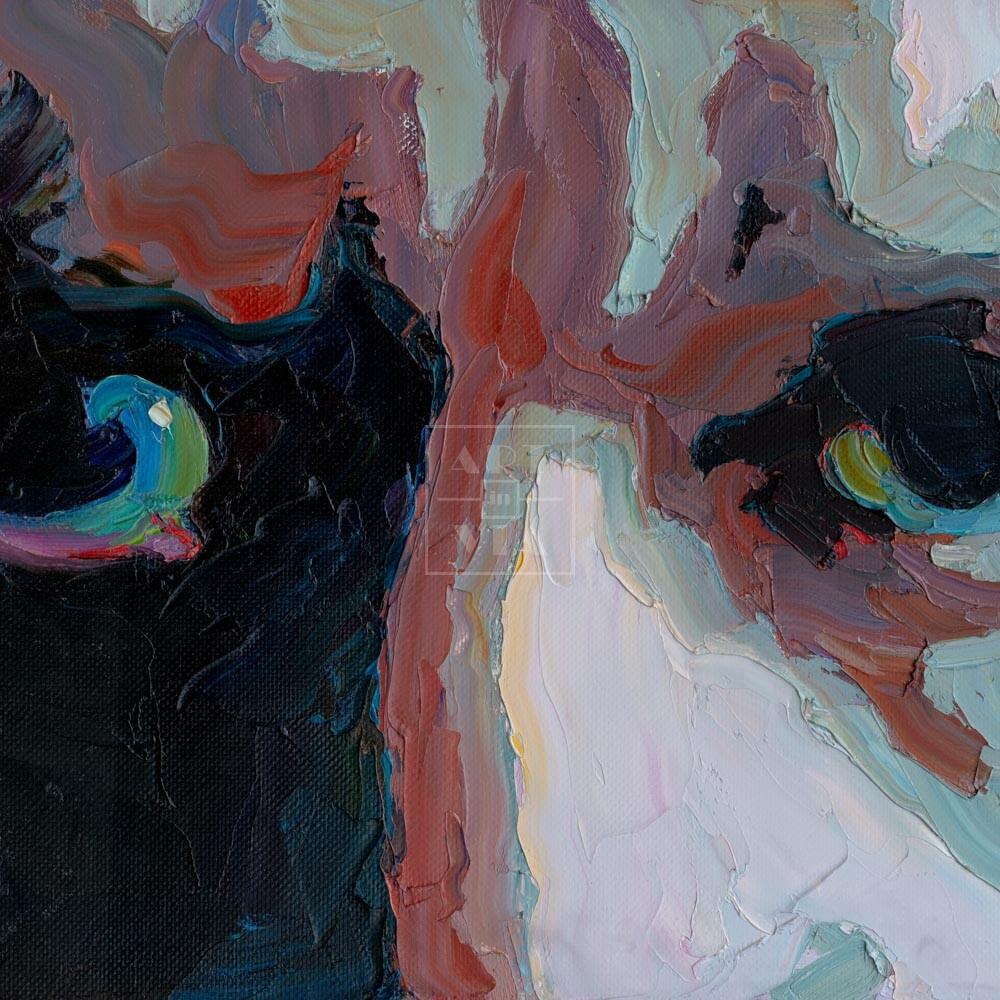 Фрагмент картины 1/3. № 1. Автопортрет