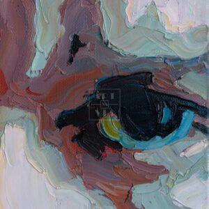 Фрагмент картины 3/3. № 1. Автопортрет