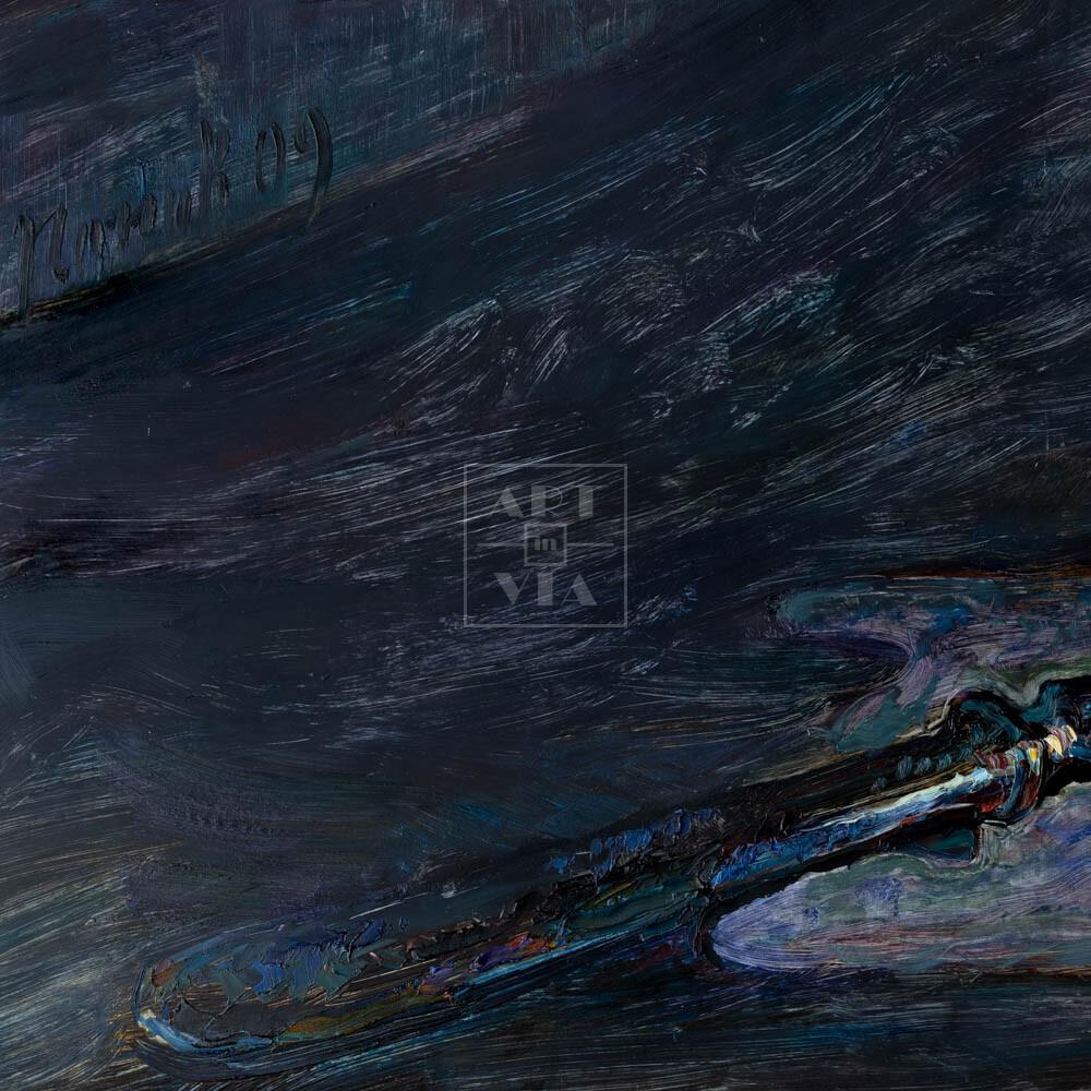 Фрагмент картины 1/3. Натюрморт с вилкой