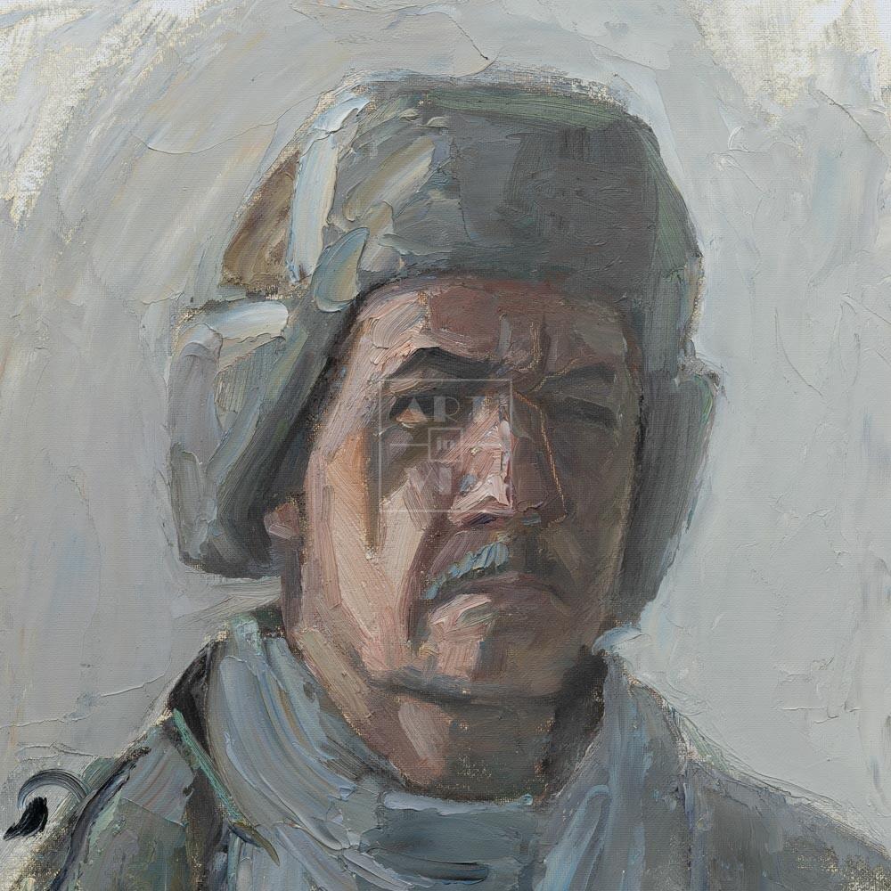Фрагмент картины 1/3. № 4. Автопортрет