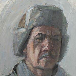 Фрагмент картины 3/3. № 4. Автопортрет