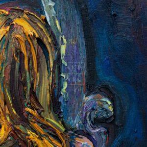 Фрагмент картины 2/3. Ню. № 2. Путана и зеркало