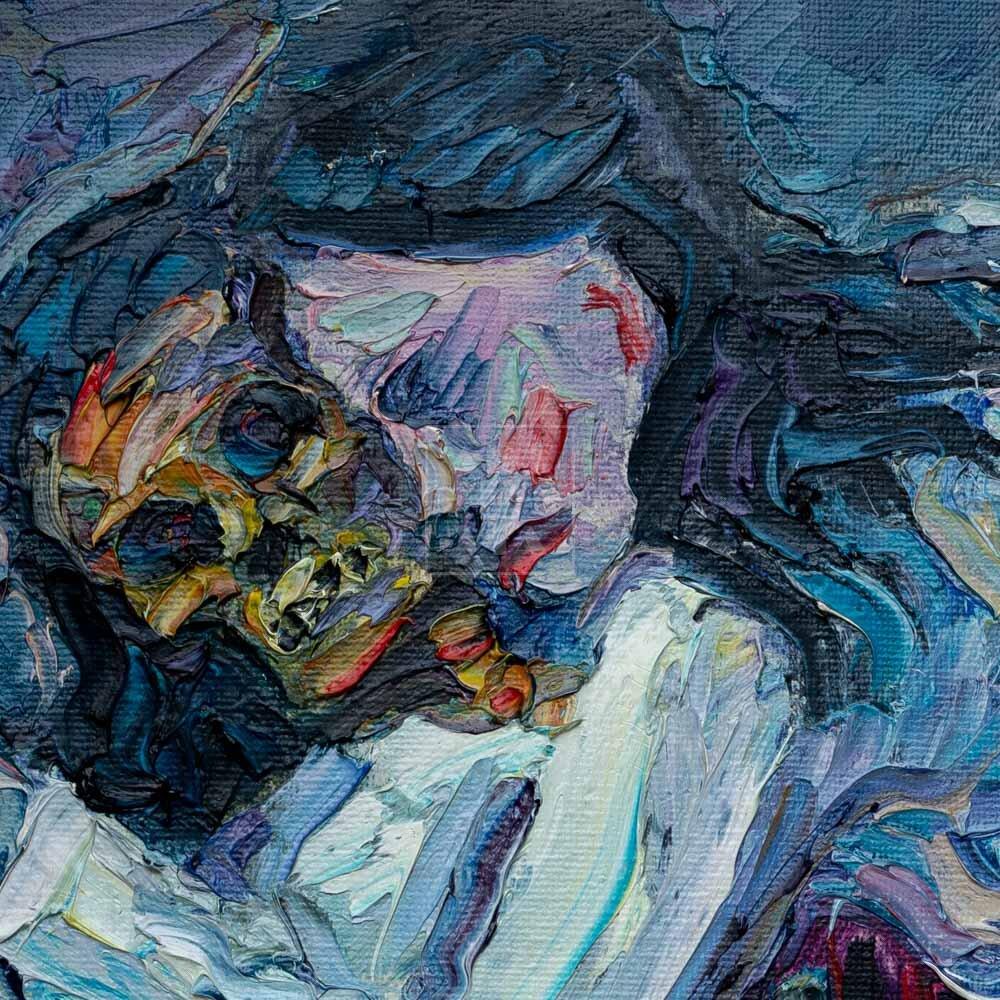Фрагмент картины 2/3. Ню. № 3. Путана и зеркало