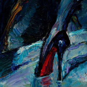 Фрагмент картины 3/3. Ню. № 3. Путана и зеркало
