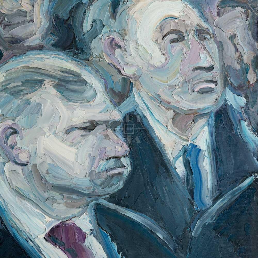 Фрагмент картины 1/3. Внимательные слушатели