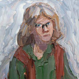 Фрагмент картины 1/3. Портрет жены