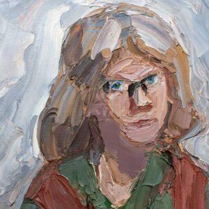 Фрагмент картины 3/3. Портрет жены