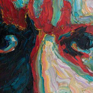 Фрагмент картины 1/3. № 5. Автопортрет