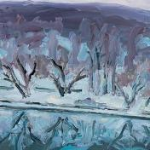Фрагмент картины 1/3. Москва. Пейзаж. Нескучный сад в январе