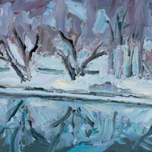 Фрагмент картины 3/3. Москва. Пейзаж. Нескучный сад в январе