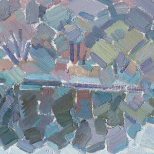 Фрагмент картины 3/3. Москва. Пейзаж. Ноябрь