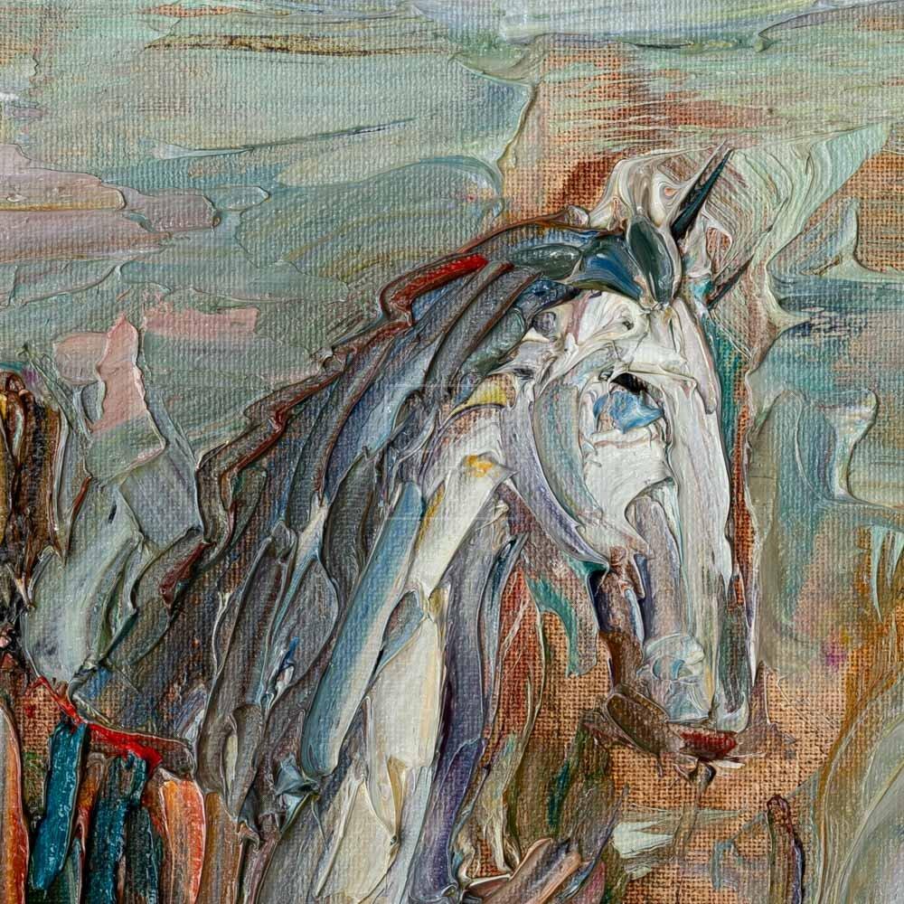 Фрагмент картины 2/3. Театр древней Греции