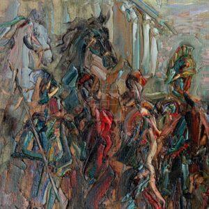 Фрагмент картины 3/3. Театр древней Греции