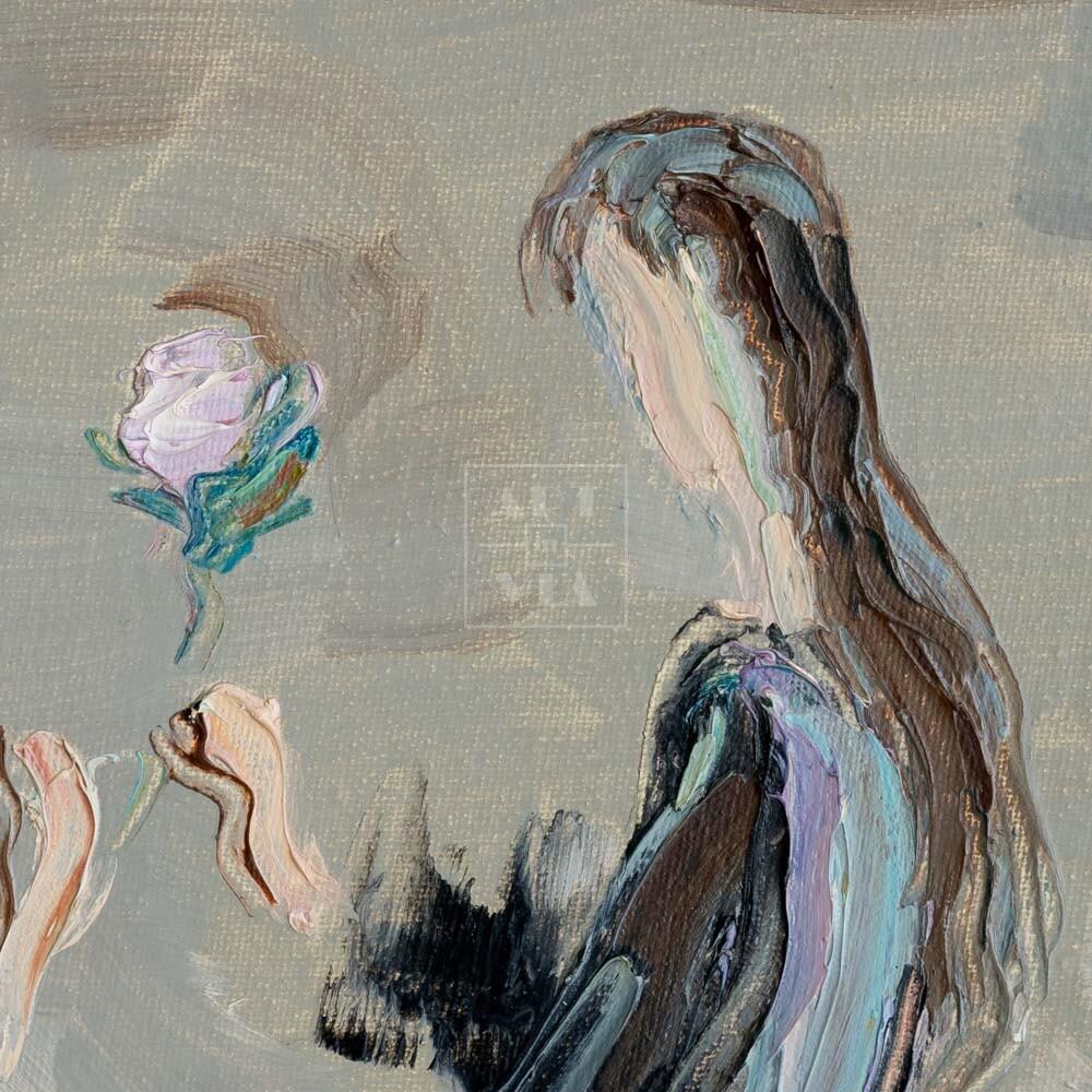 Фрагмент картины 2/3. Интересный сюжет. № 13. Вера. Надежда. Любовь