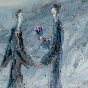 Фрагмент картины 3/3. Интересный сюжет. № 14. Вера. Надежда. Любовь