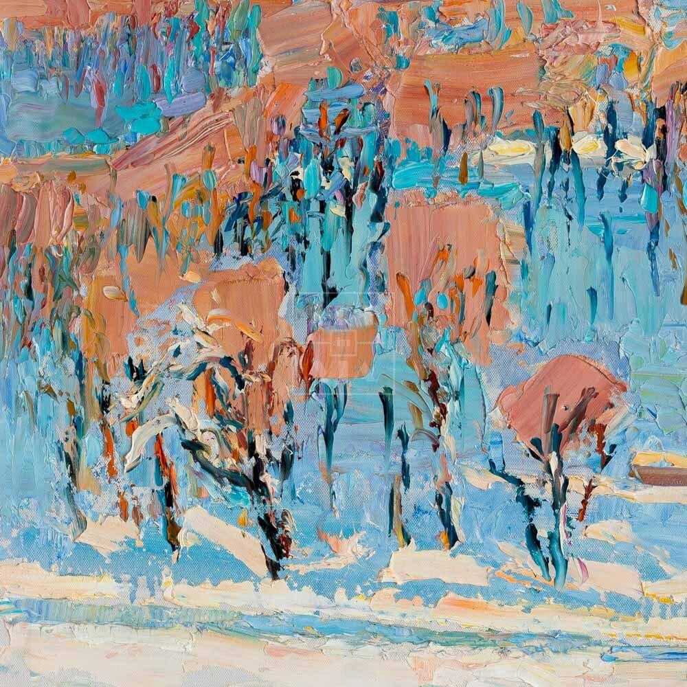 Фрагмент картины 3/3. Москва. Январский пейзаж
