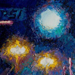 Фрагмент картины 2/3. Пейзаж. № 7. Улица Тверская в 0 часов 30 минут