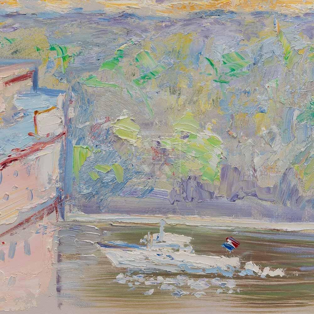 Фрагмент картины 3/3. Москва. Пейзаж. Вид из окна