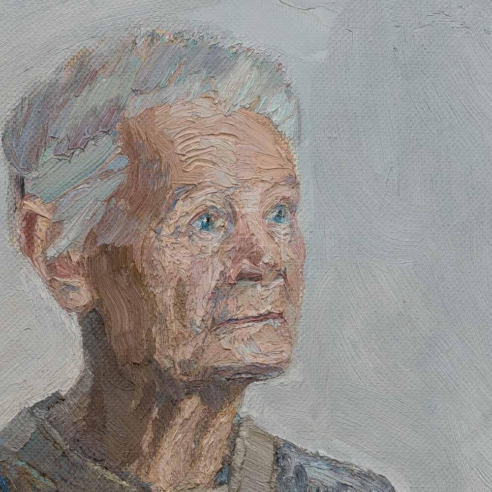 Фрагмент картины 3/3. № 27. Портрет И. И. Витман