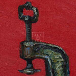 Фрагмент картины 2/3. № 2. Натюрморт со статуэткой пионерки
