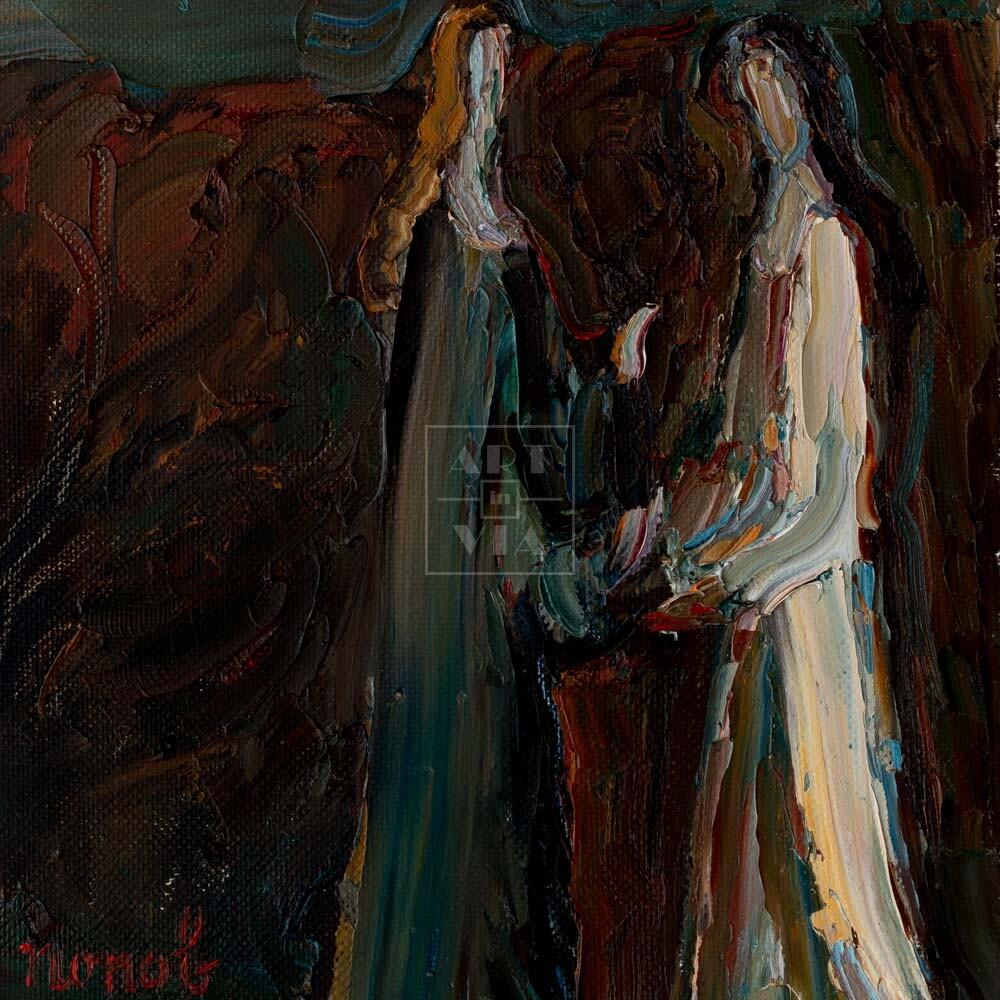 Фрагмент картины 1/3. Интересный сюжет. № 15. Вера. Надежда. Любовь