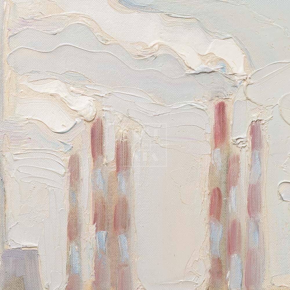 Фрагмент картины 2/3. № 6. Натюрморт со статуэткой и мясорубкой