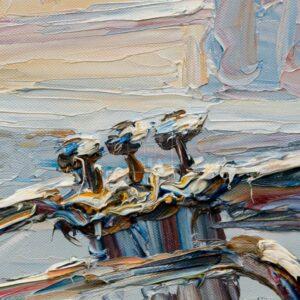 Фрагмент картины 2/3. № 3. Натюрморт с трубой