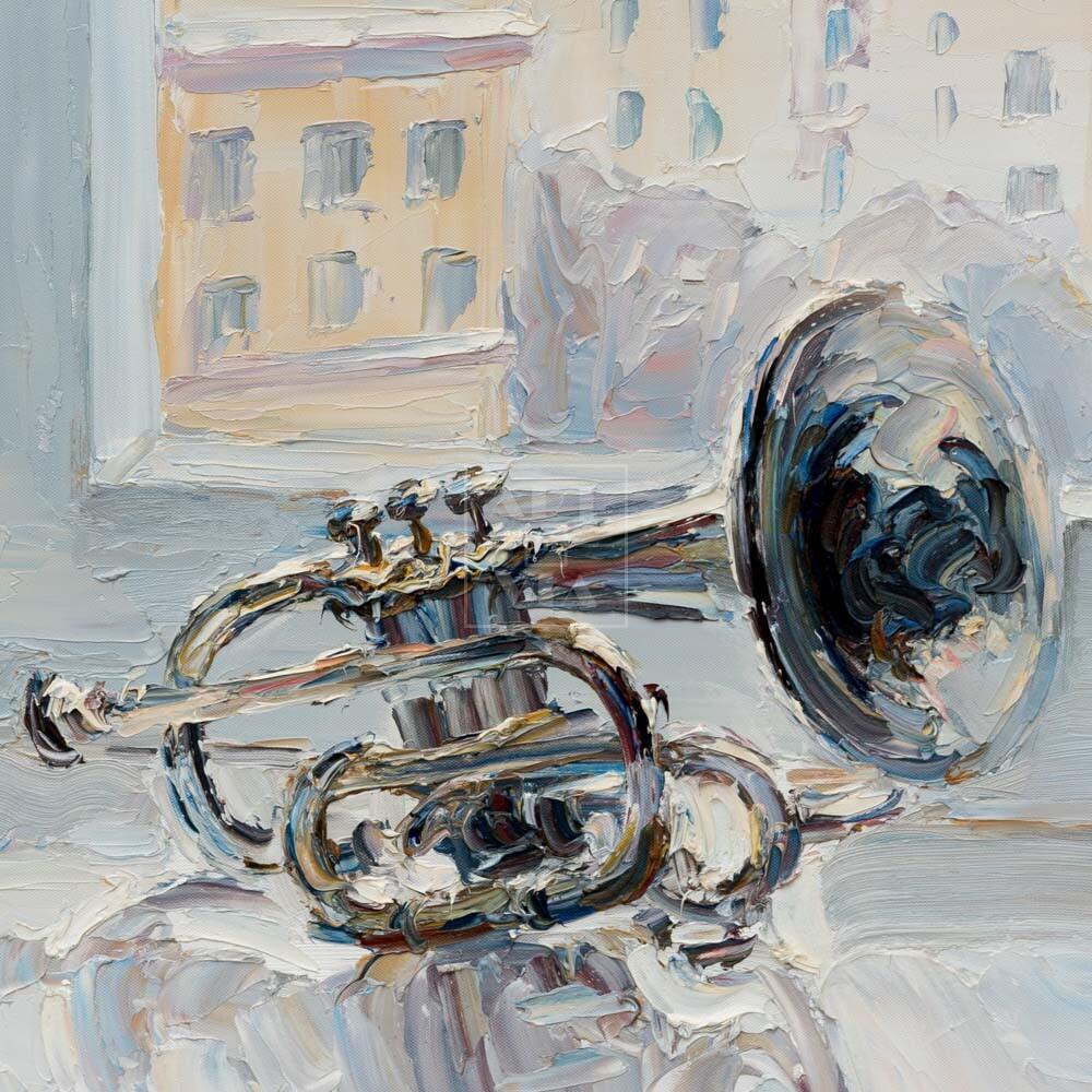 Фрагмент картины 3/3. № 3. Натюрморт с трубой