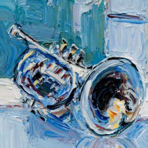 Фрагмент картины 3/3. № 5. Натюрморт с трубой