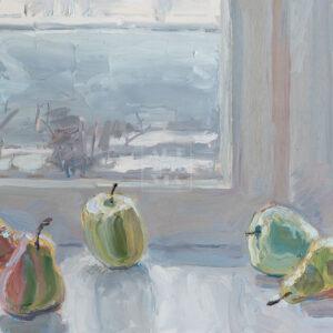 Фрагмент картины 1/3. Натюрморт с фруктами