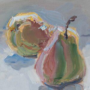 Фрагмент картины 2/3. Натюрморт с фруктами
