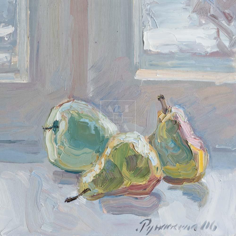 Фрагмент картины 3/3. Натюрморт с фруктами