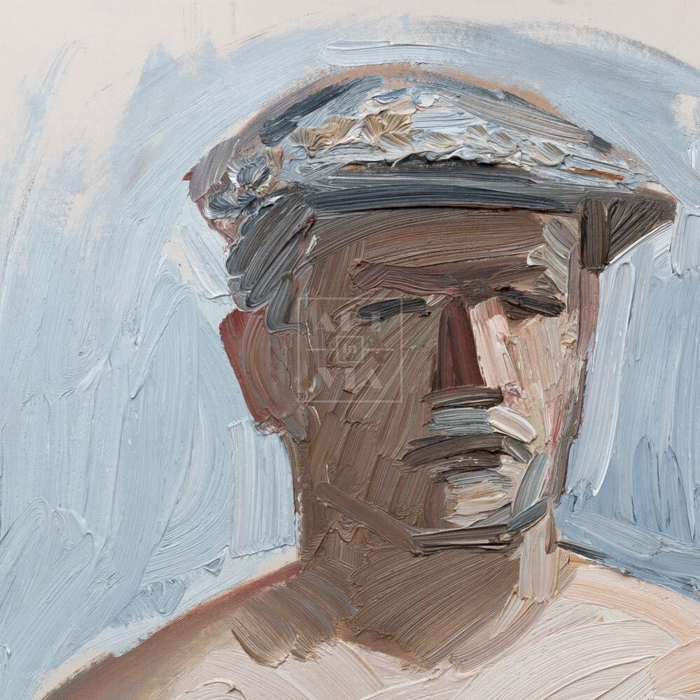 Фрагмент картины 3/3. № 6. Автопортрет