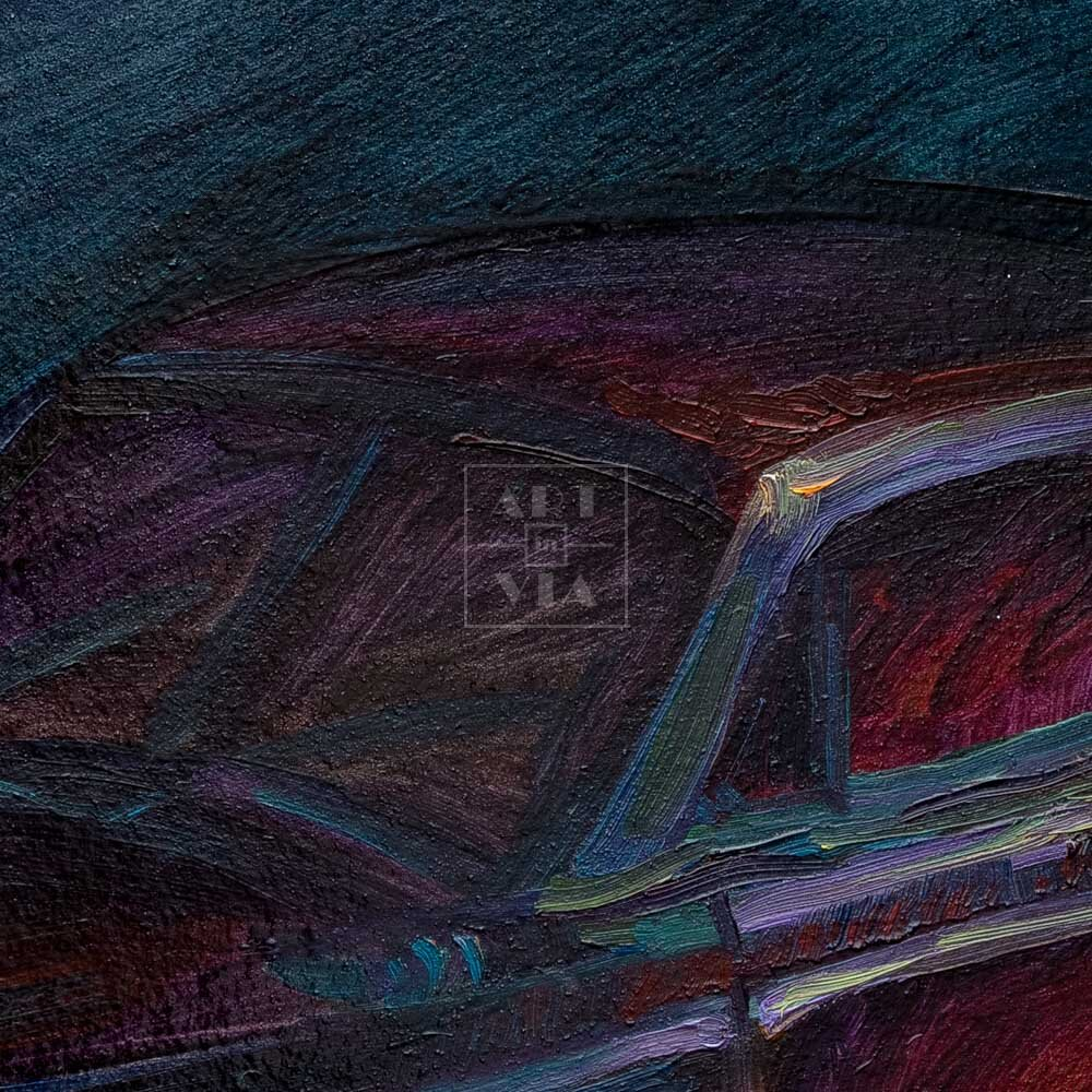 Фрагмент картины 2/3. Натюрморт с машинкой и солдатиком