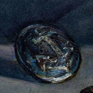 Фрагмент картины 2/3. Натюрморт. Мундштук отца