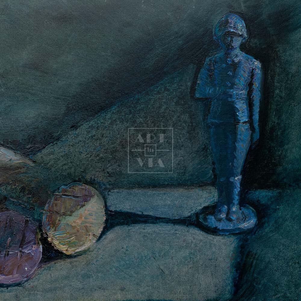 Фрагмент картины 1/3. Натюрморт. Оловянный солдатик