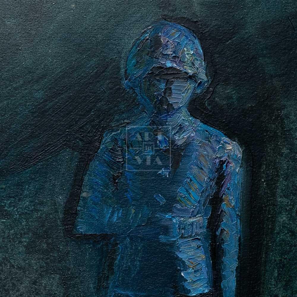 Фрагмент картины 2/3. Натюрморт. Оловянный солдатик