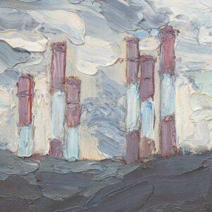 Фрагмент картины 2/3. Москва. Мартовский пейзаж
