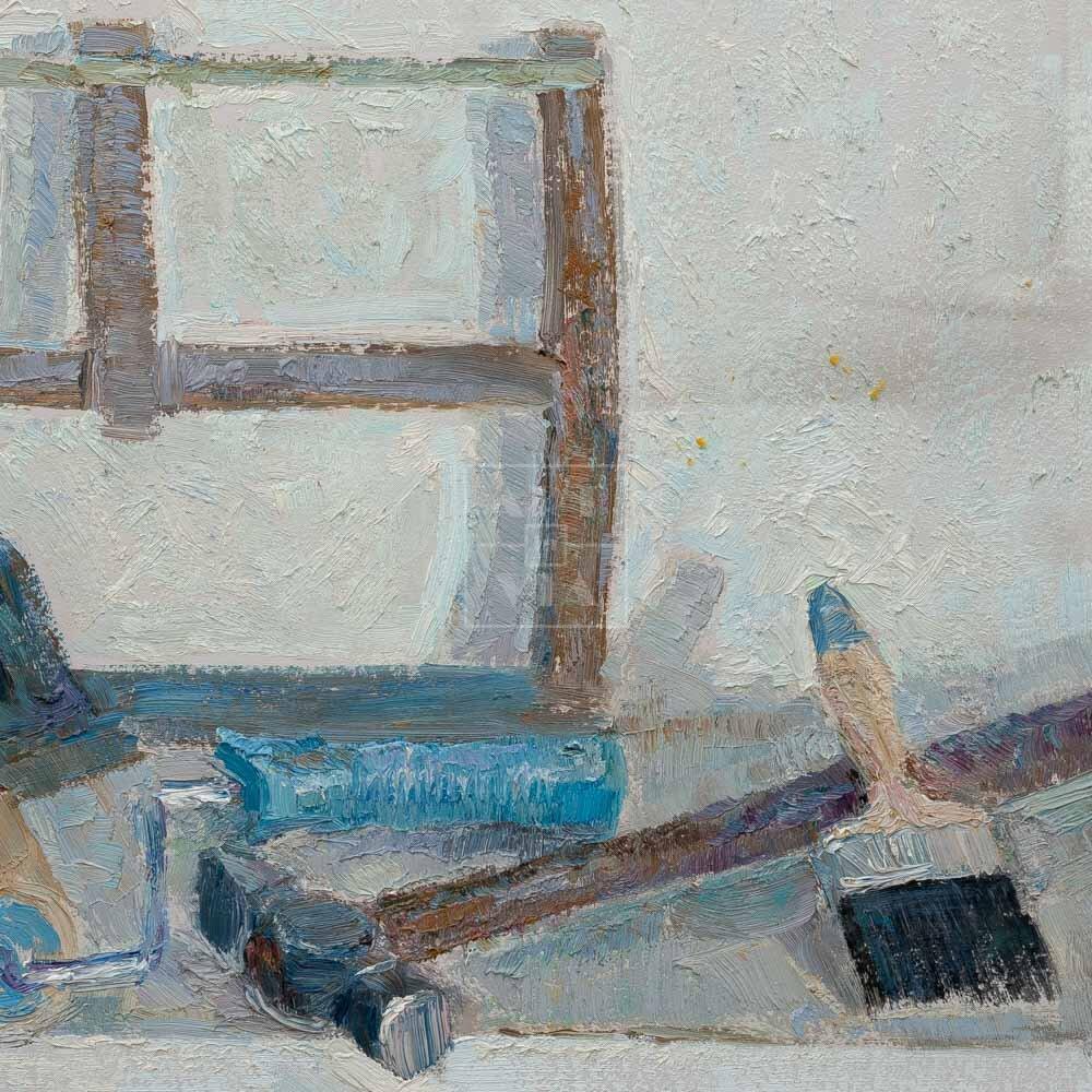 Фрагмент картины 3/3. Натюрморт с орудиями труда