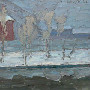 Фрагмент картины 1/3. Москва. Февральский пейзаж