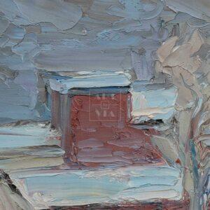 Фрагмент картины 2/3. Москва. Февральский пейзаж