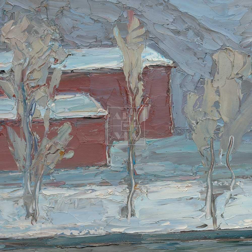 Фрагмент картины 3/3. Москва. Февральский пейзаж